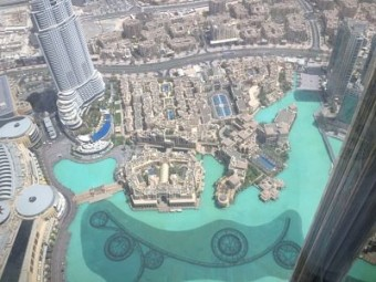 View from somewhere up the Burj Khalifa