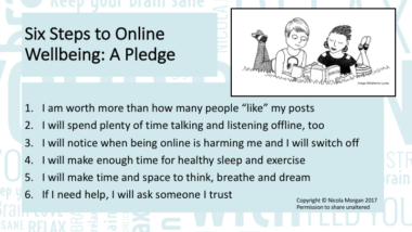 Six Steps to Online Wellbeing: A Pledge. Stop yourself bingeing on social media (part two)
