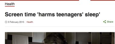 headline: Screen time harms teenagers' sleep. Is screen time good or bad for you?