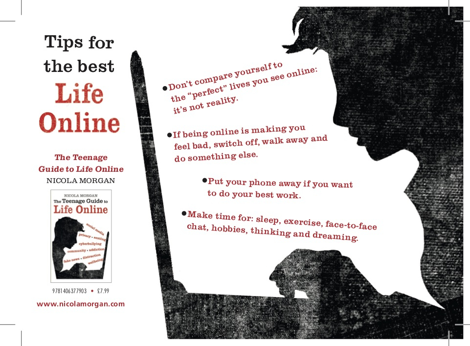 Six steps to online well being mentalhealthawareness nicola morgan how can you get some copies of the postcard solutioingenieria Image collections